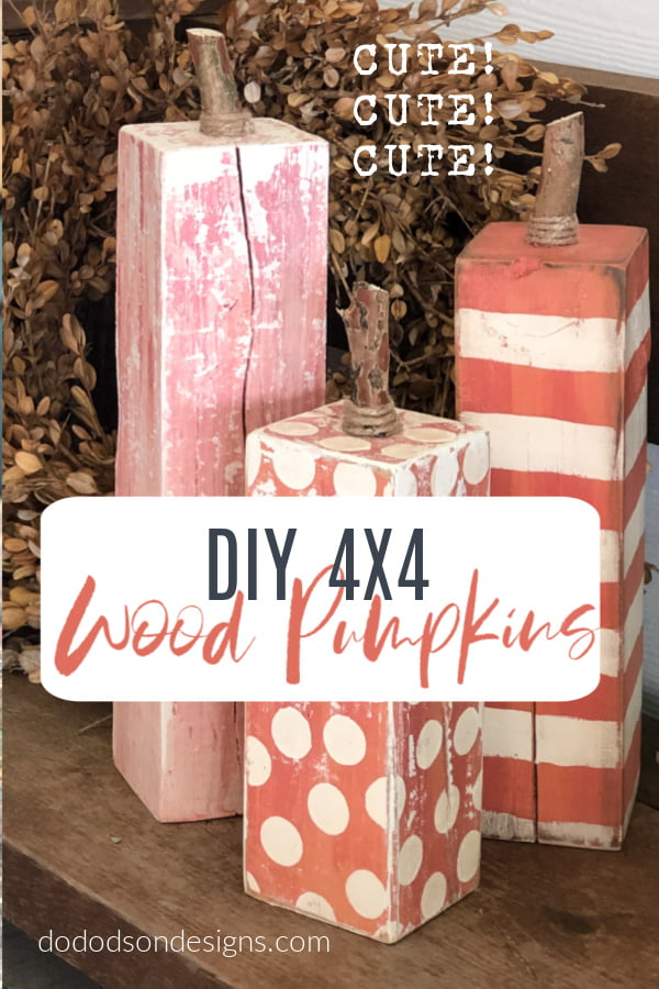 DIY 4X4 Wood Pumpkins... Front Porch Fall Decor