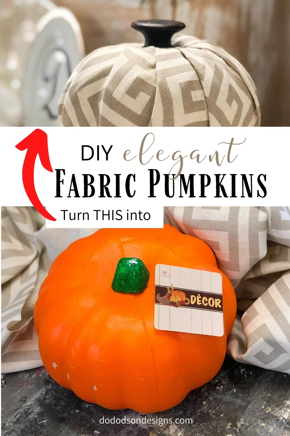 DIY No-Sew Fabric Pumpkins | 5 Easy steps