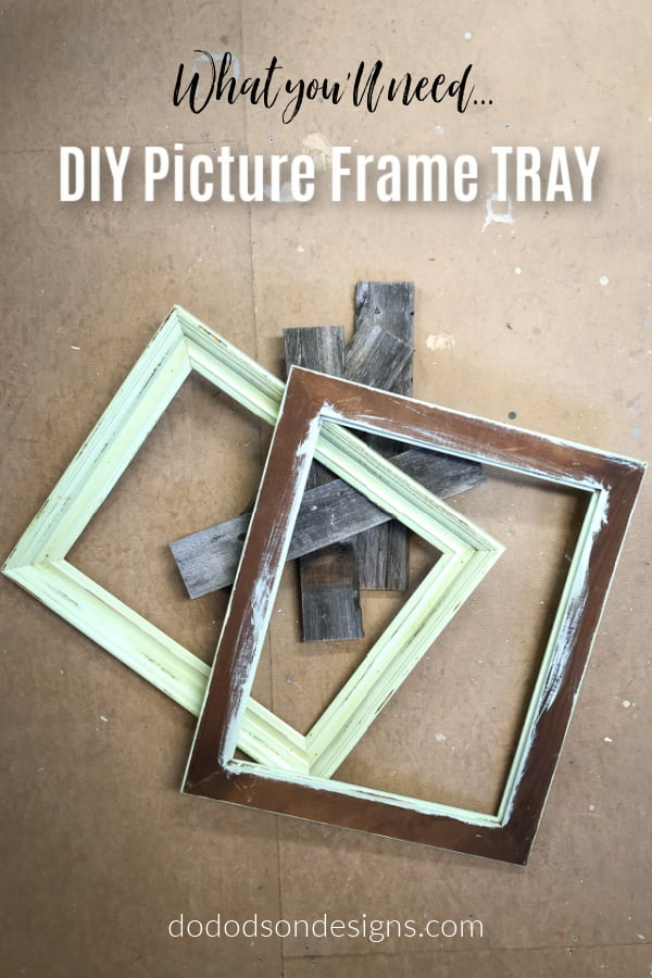 Create a beautiful DIY picture frame tray with a few simple items that you may have lying around right now.
