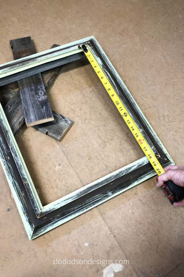 Measure and cut the length of the boards that you will need to build your picture frame tray.