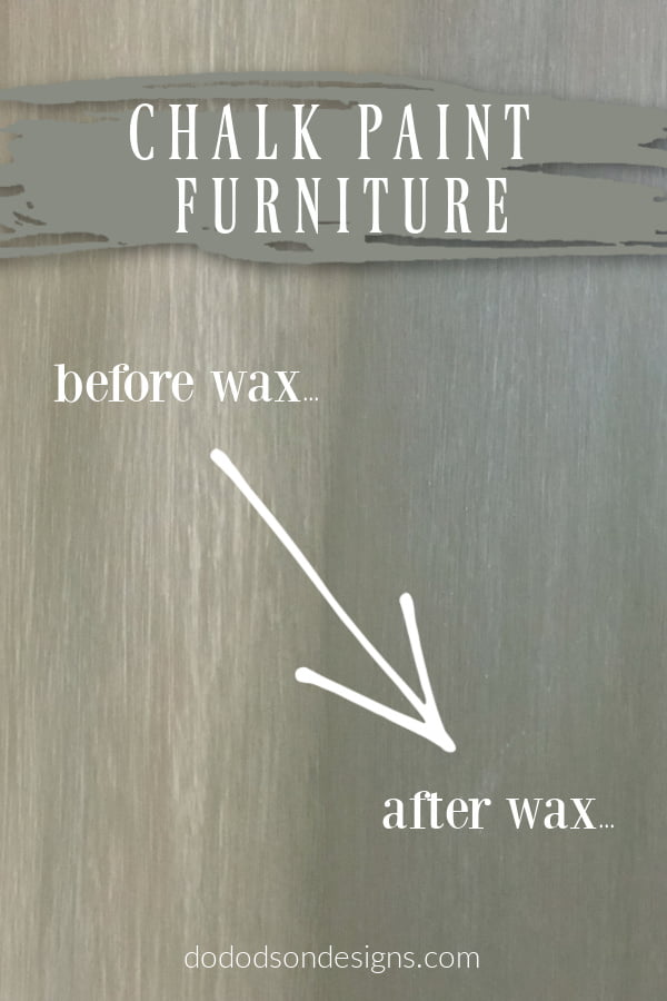 Adding wax over chalk paint on furniture changes everything. Lesson learned...