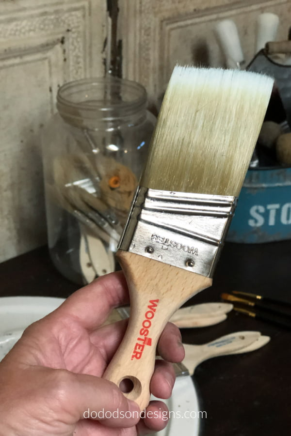 Check out this paintbrush I found! It's called a Wooster, LOL.