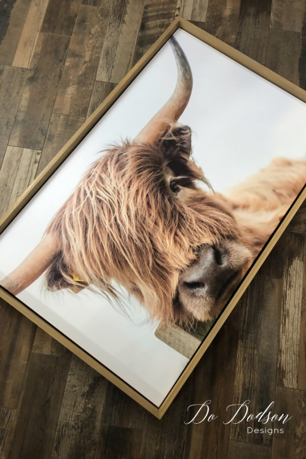 Here are the results of my DIY floating frame on my large canvas art. It really does give it a finished look. Tutorial available on the blog.
