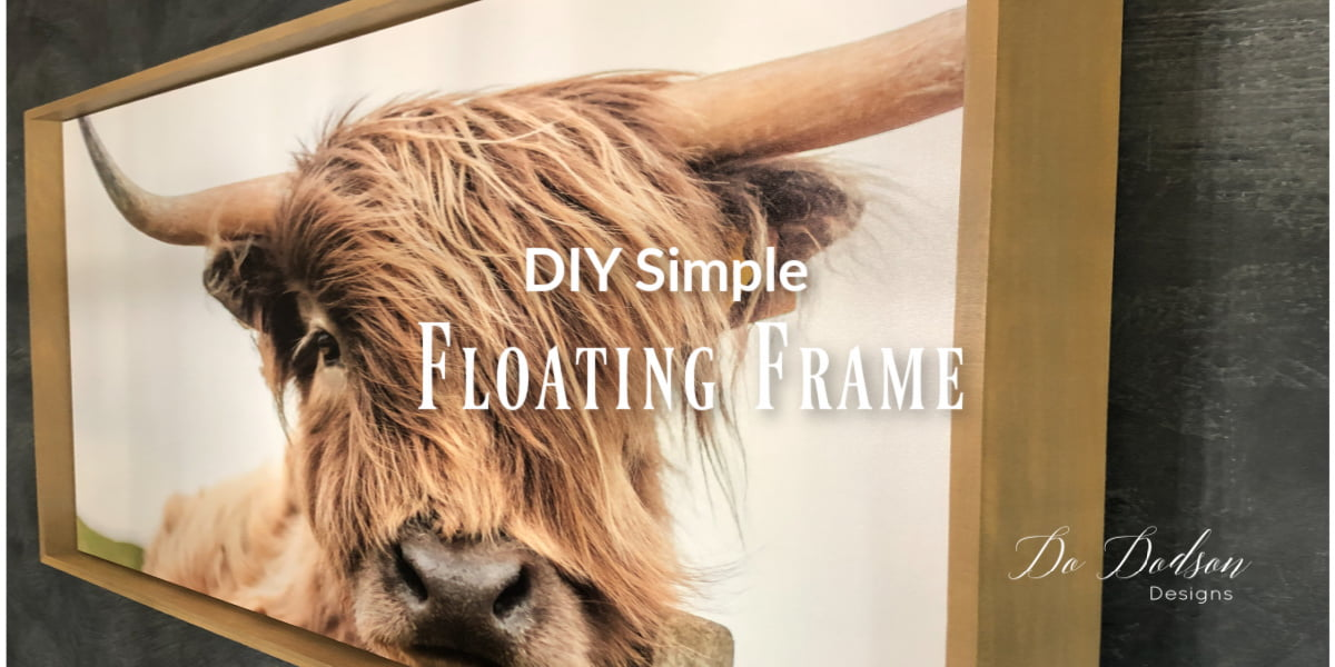 Simple DIY Floating Frame That Makes Your Canvas Look $$$$