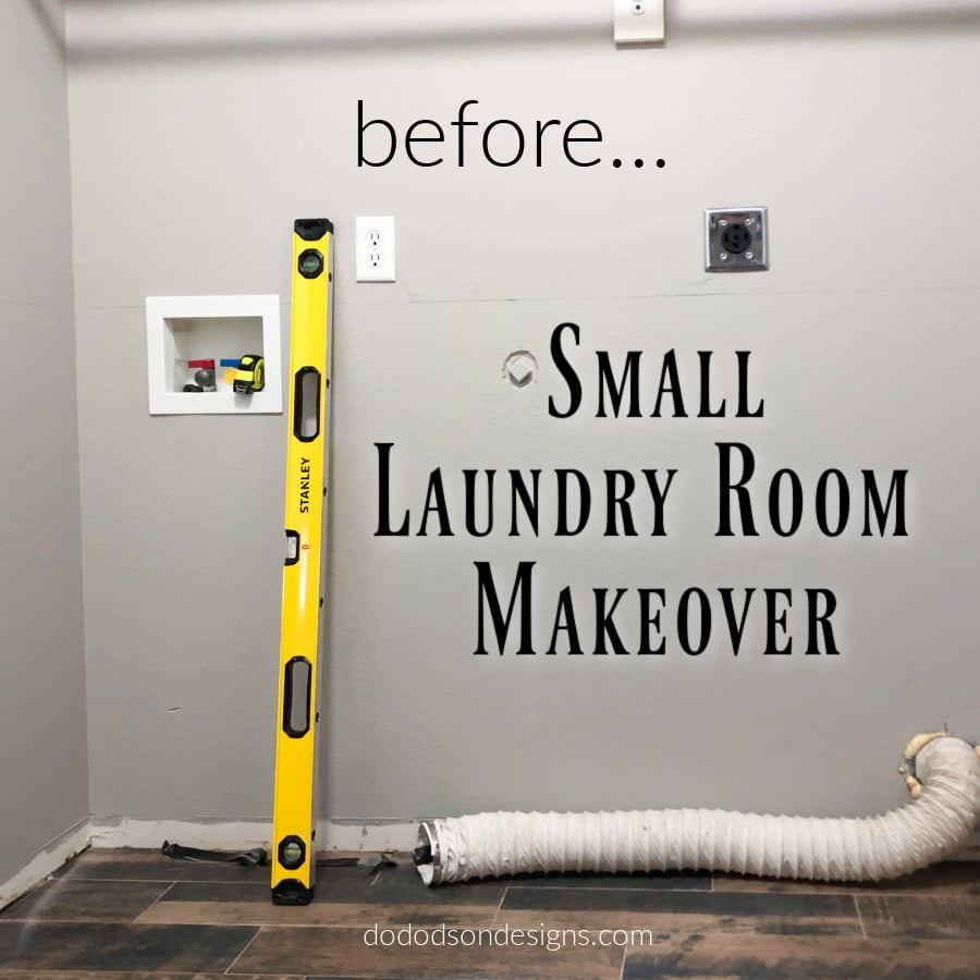 I never dreamed that doing a laundry room makeover in this small space would turn out to be my favorite room in my home.  It may be itty-bitty but it's gorgeous!