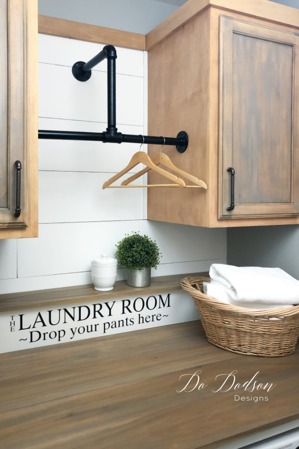 I'm so in L-O-V-E with this DIY laundry room makeover. It couldn't have turned out any better in this small space.