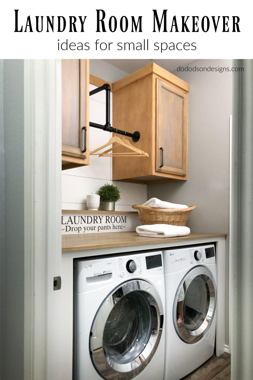 Small Laundry Room Makeover - DIY Renovation
