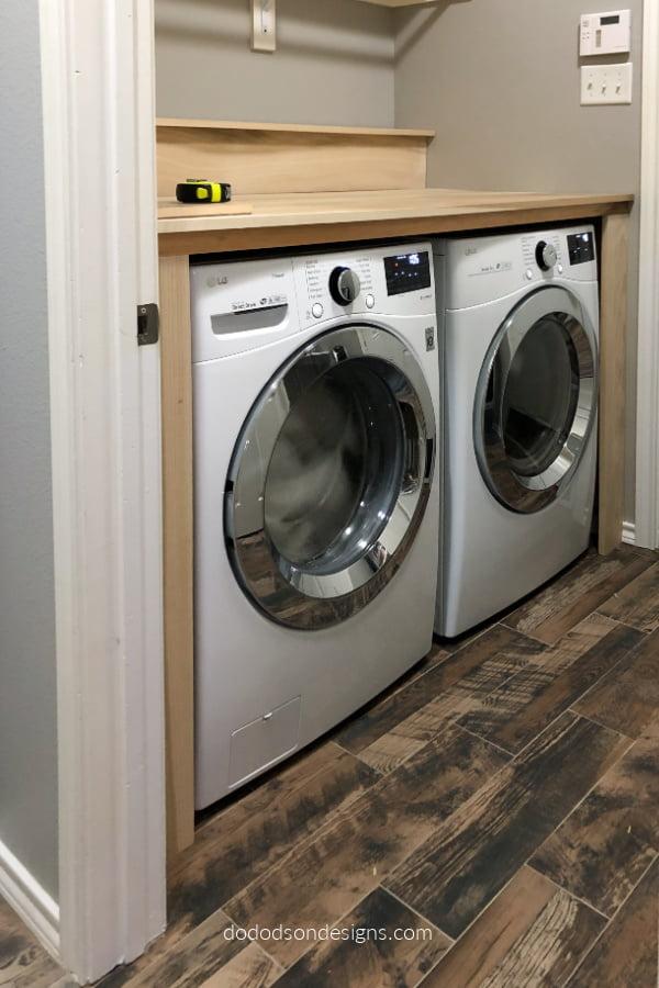 DIY Laundry Room Makeover Folding Station
