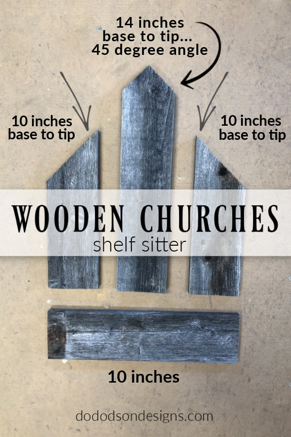Just 4 pieces of reclaimed wood and you can create amazing DIY wooden churches. Fun craft project.