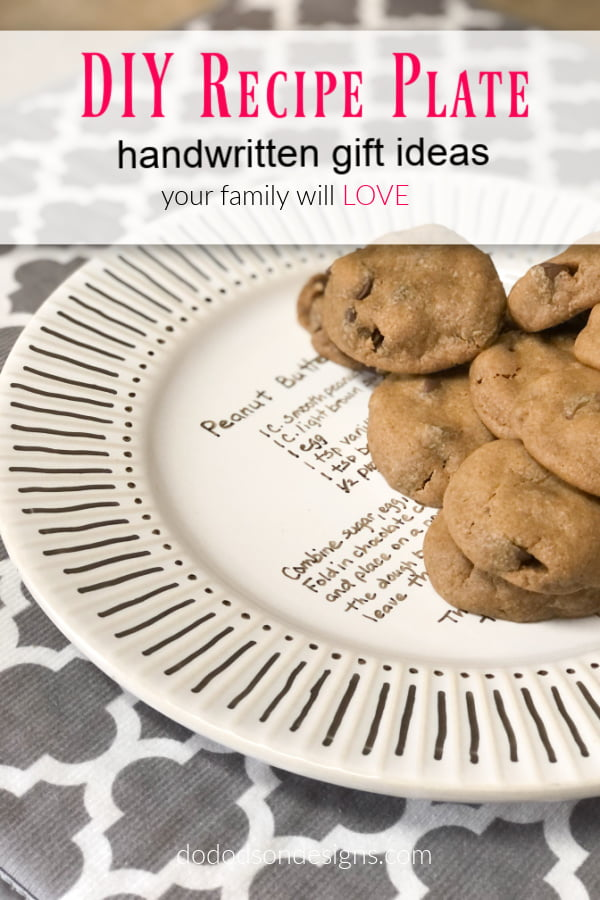 Image the look on their face when they receive a recipe plate filled with their favorite goods. It's a great DIY gift idea and budget friendly.
