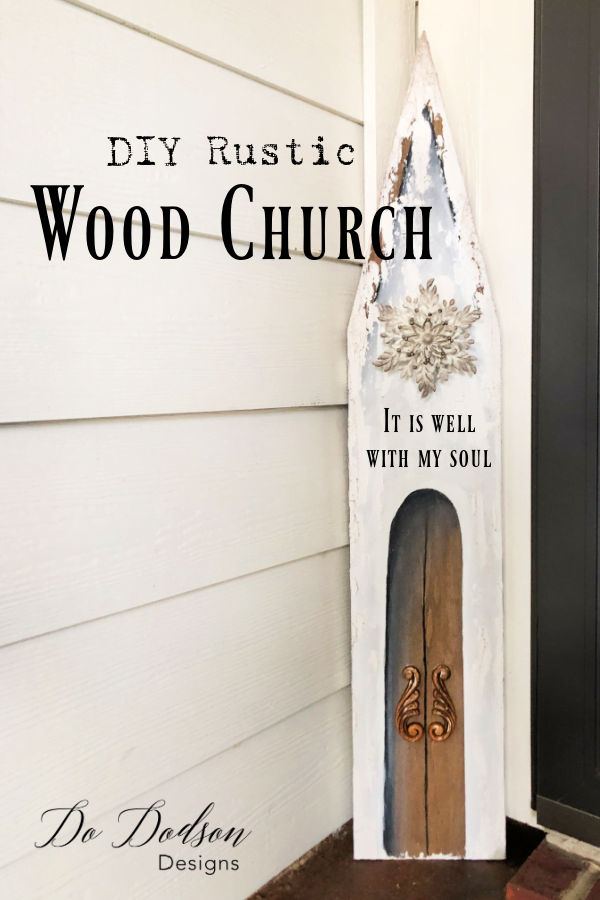DIY Wood Church Craft... Christmas Decor