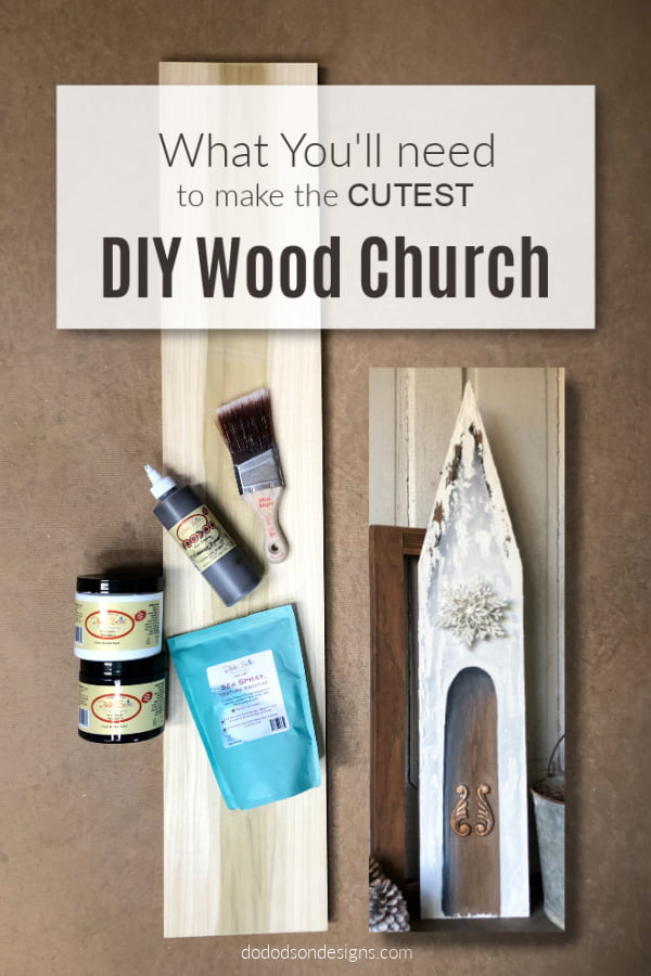 All you'll need is one board to make this adorable wood church. It's the perfect DIY Christmas decor project.
