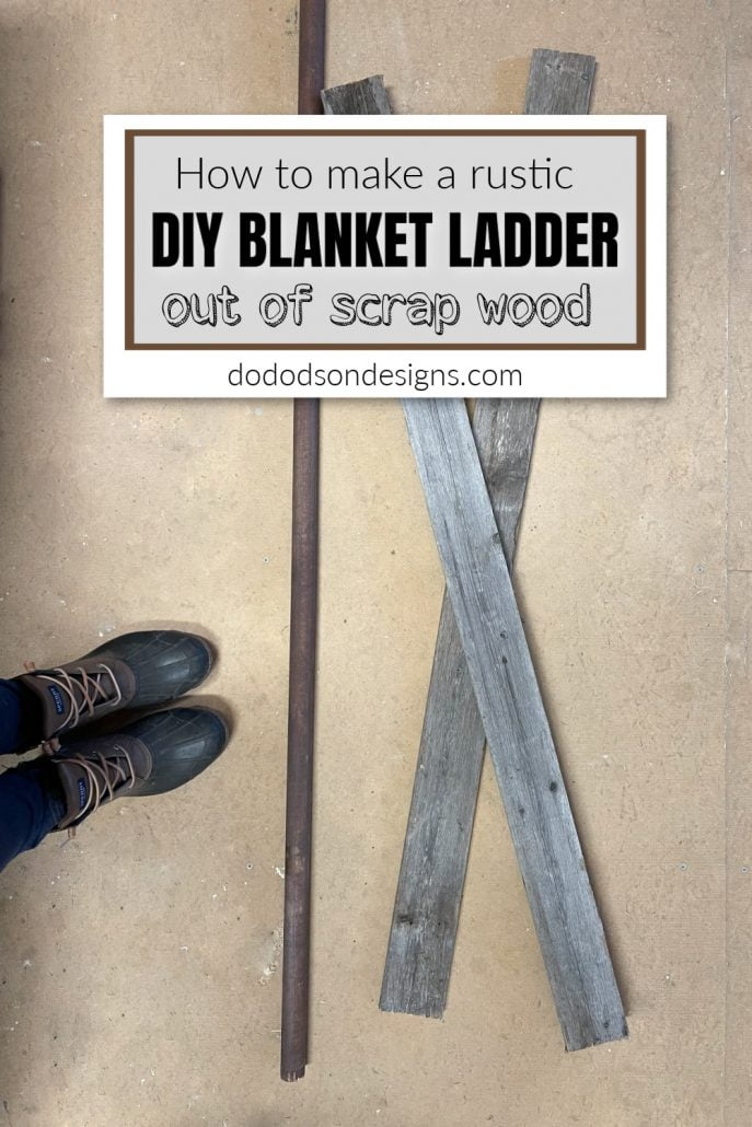 I used scrap wood to build this DIY blanket ladder for almost nothing!