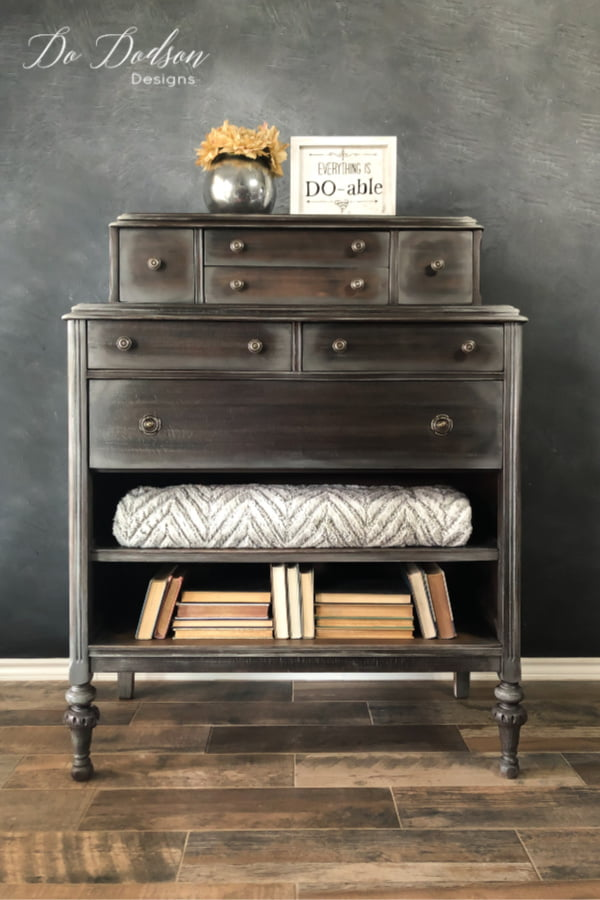 This gentleman's chest was a labor of love! Totally restored with a restoration hardware finish that makes a definite statement.