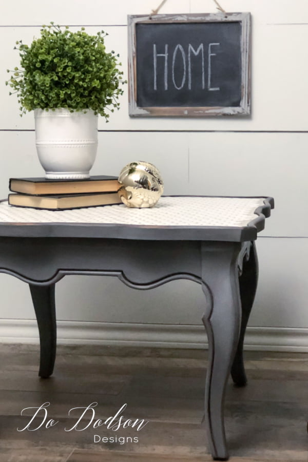 When chalk paint and tile come together on a vintage table you can't help but fall in love.