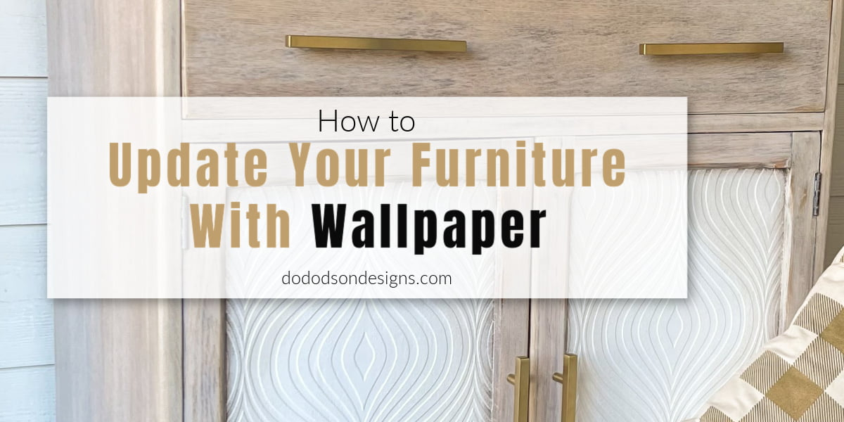 Want to learn how to update furniture with wallpaper? I'm sharing how I flipped this old cabinet dresser into an amazing statement piece.