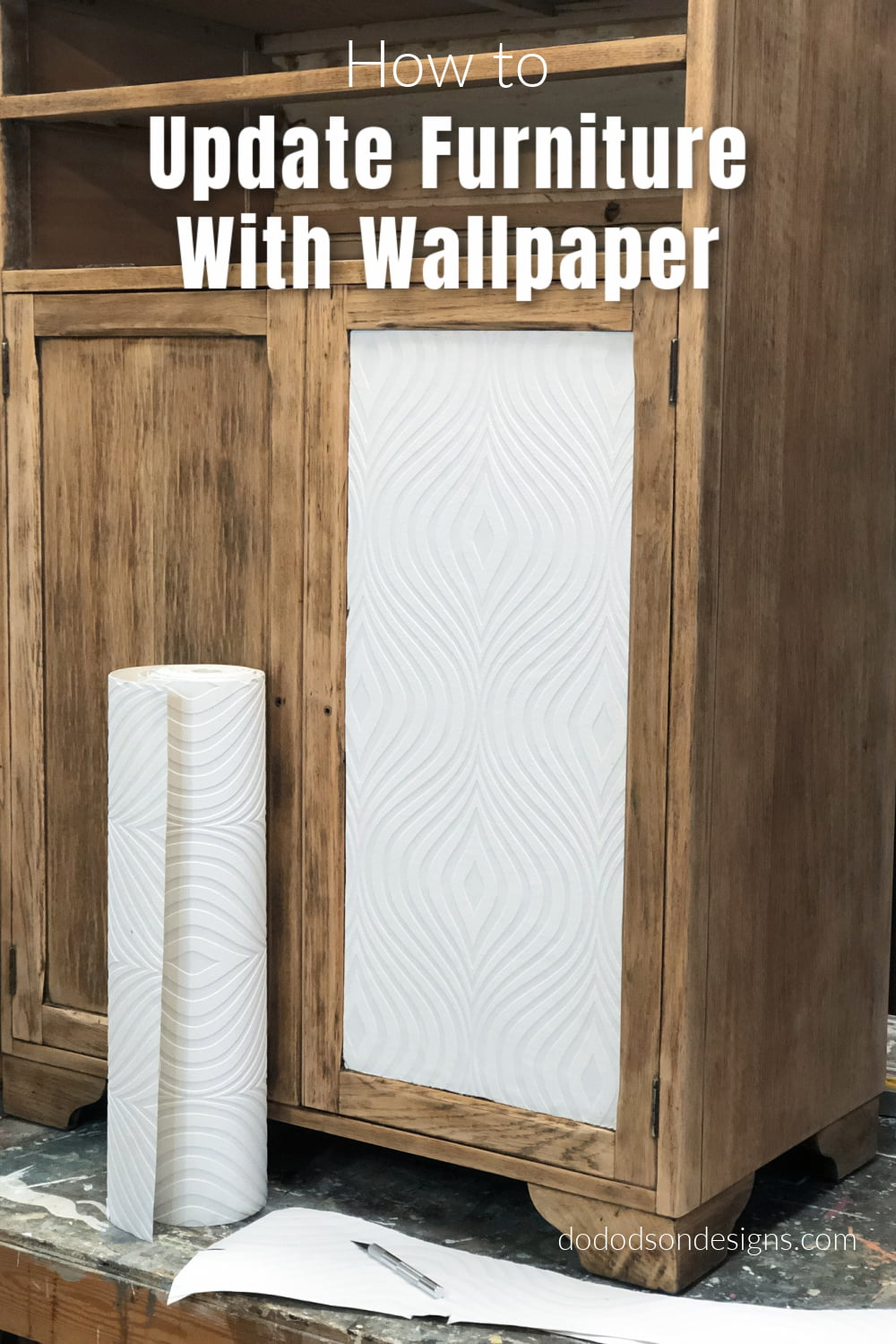 How To Update Furniture With Wallpaper