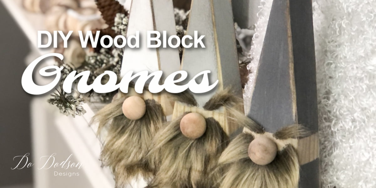 DIY Wood Block Gnomes