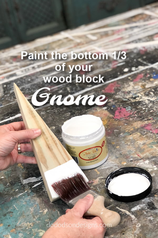 When creating a DIY wood block gnome, face placement is everything. Learn everything you need to to know by watching the full video tutorial on how to make these and others just like it. Easiest DIY craft you'll ever make.