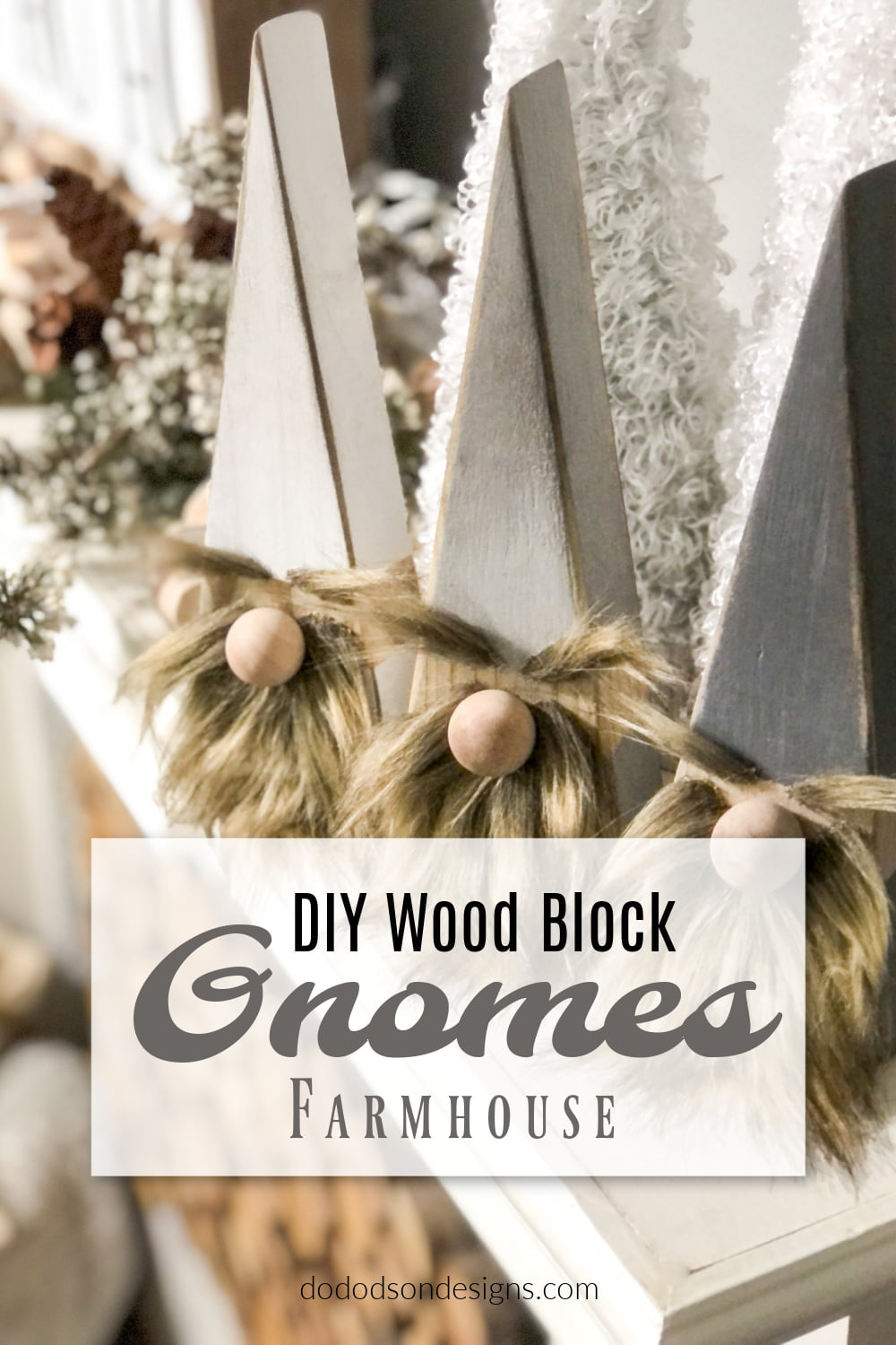 Wood Block Gnomes - DIY Christmas Craft