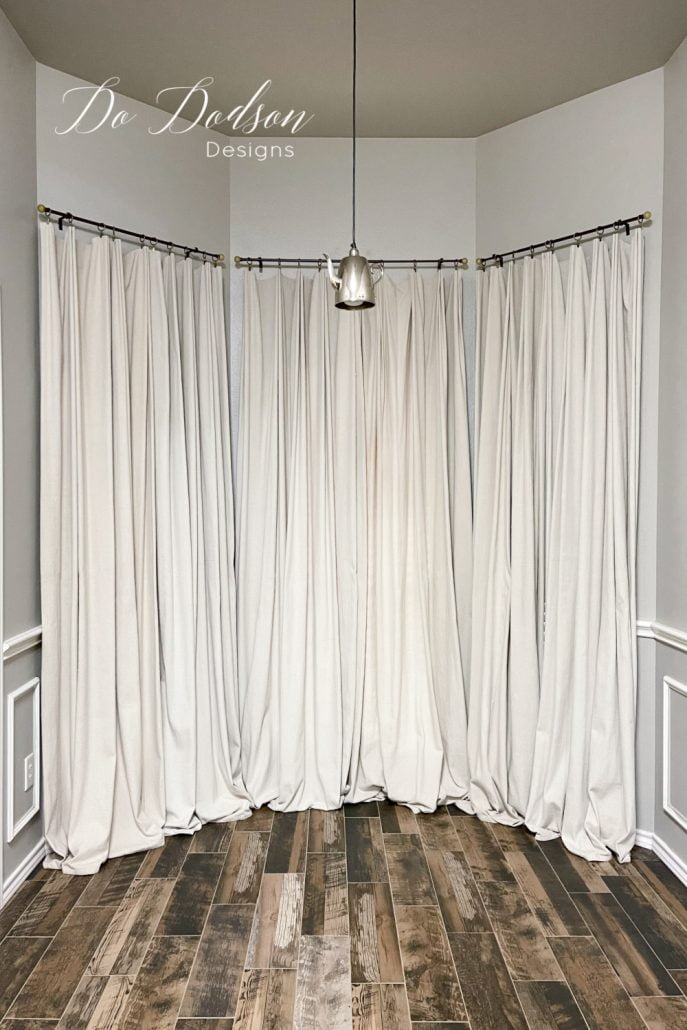 For $20 a window I made these DIY drop cloth curtains for my windows. One of the best curtain hacks ever!