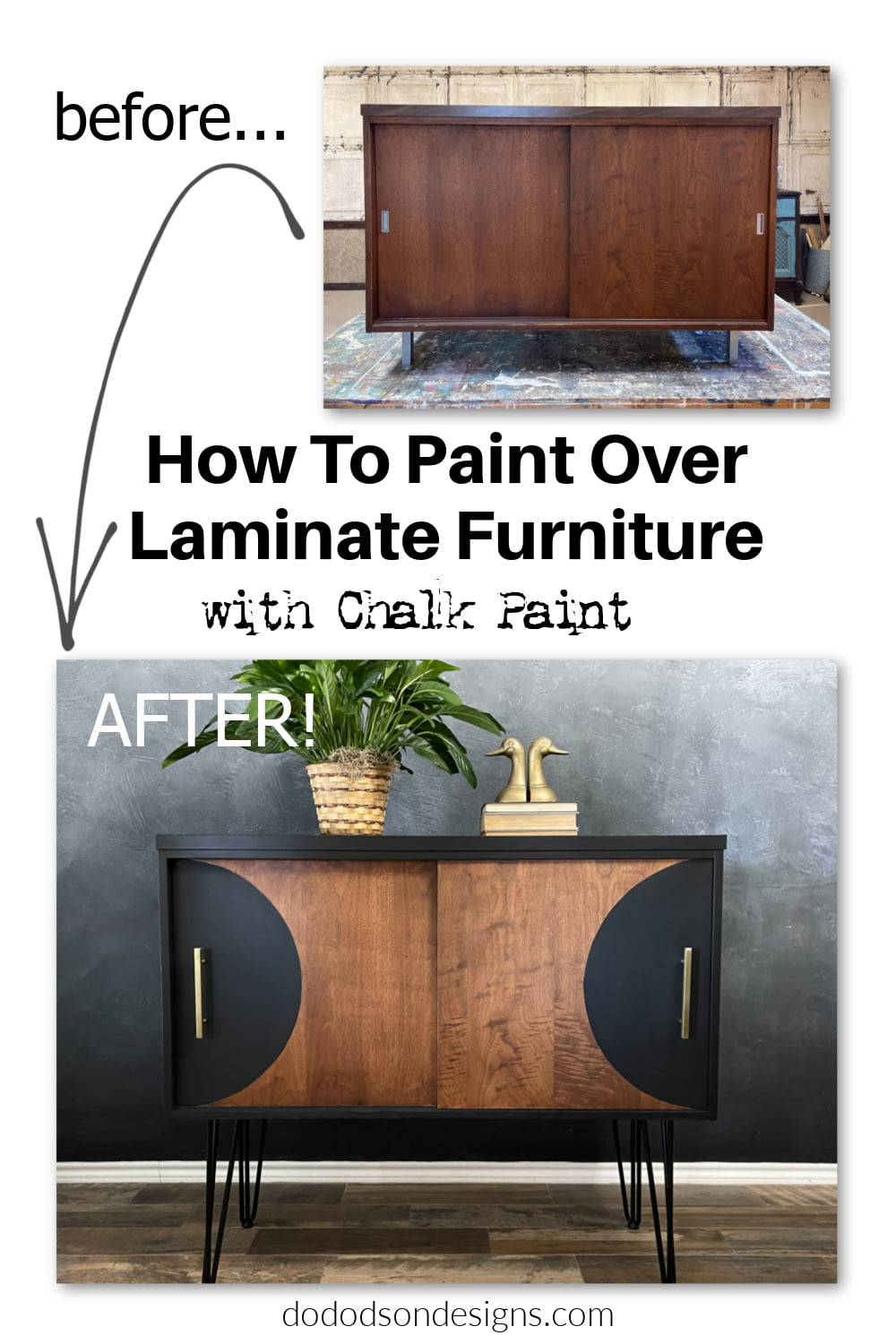 How To Paint Over Laminate Furniture - With Chalk Paint