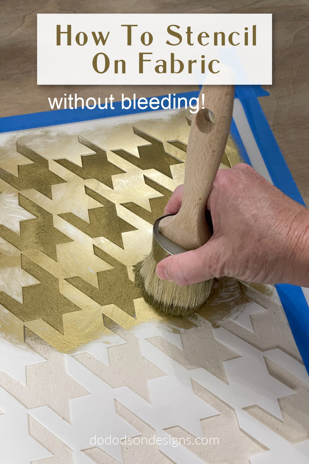 How To Stencil On Fabric Without Bleeding