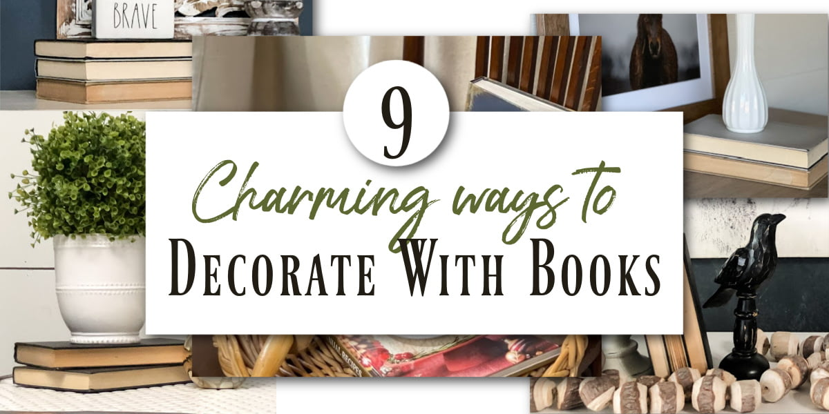 9 Charming Ways To Decorate With Books In Your Home
