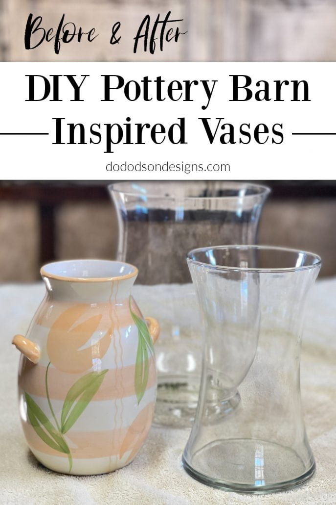 You're not going to believe how I transformed these thrift store finds into DIY Pottery Barn Vases. It was super easy!