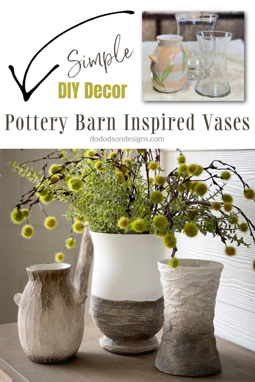 DIY Pottery Barn Vase - Easy Decor Update