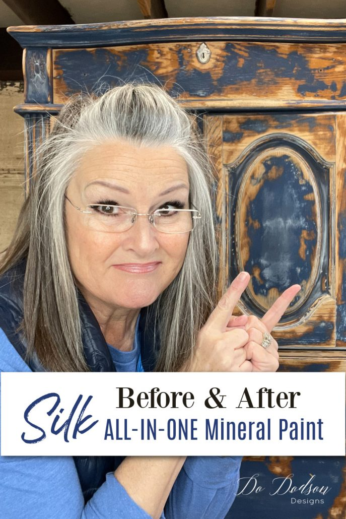 Come see how I transformed this piece with Silk All-In-One Mineral Paint.