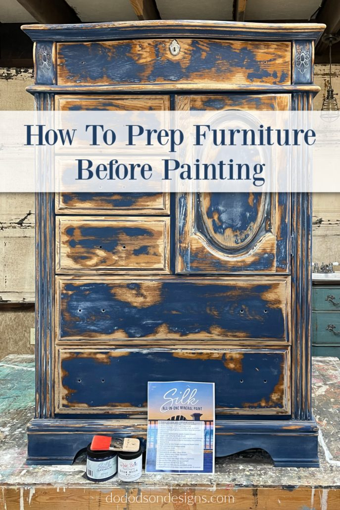 Learn how to prep furniture before painting with Silk All-In-One Mineral Paint. The before and after is shocking!