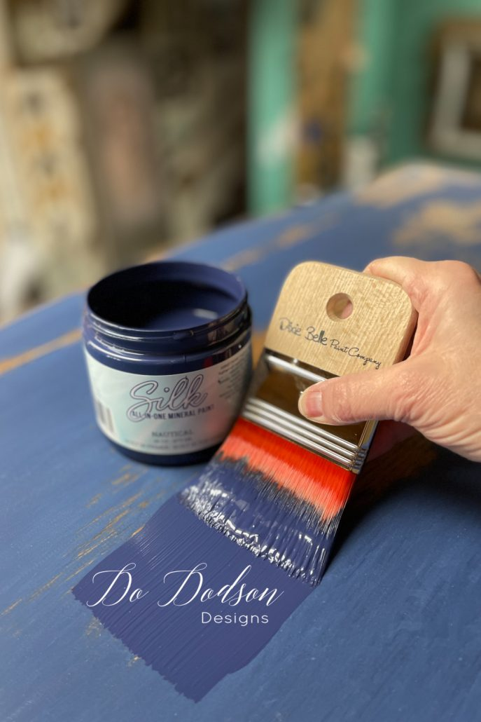 Want a silky smooth paint finish on your furniture? Try Silk All-In-One Mineral Paint on your next furniture makeover. Get the step- by-step instruction on my blog.