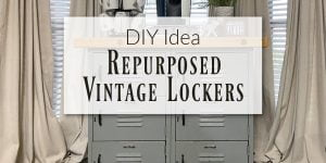 Repurposed Vintage Lockers - Old School