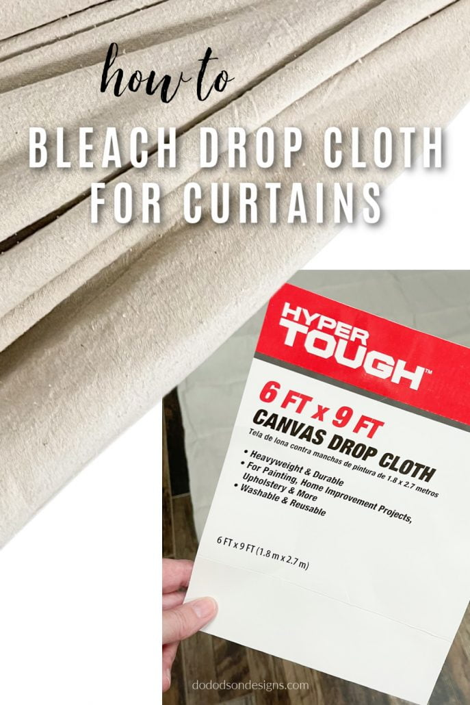 It's important to know that not all drop cloths are quality enough to use for curtains. Trust me... I've tried a lot, and the ones that Lowe's and Home Depot sell are hit and miss. To find them without ugly seams running through them has been a challenge. So far, this brand has been the winner for bleaching drop cloths for curtains.
