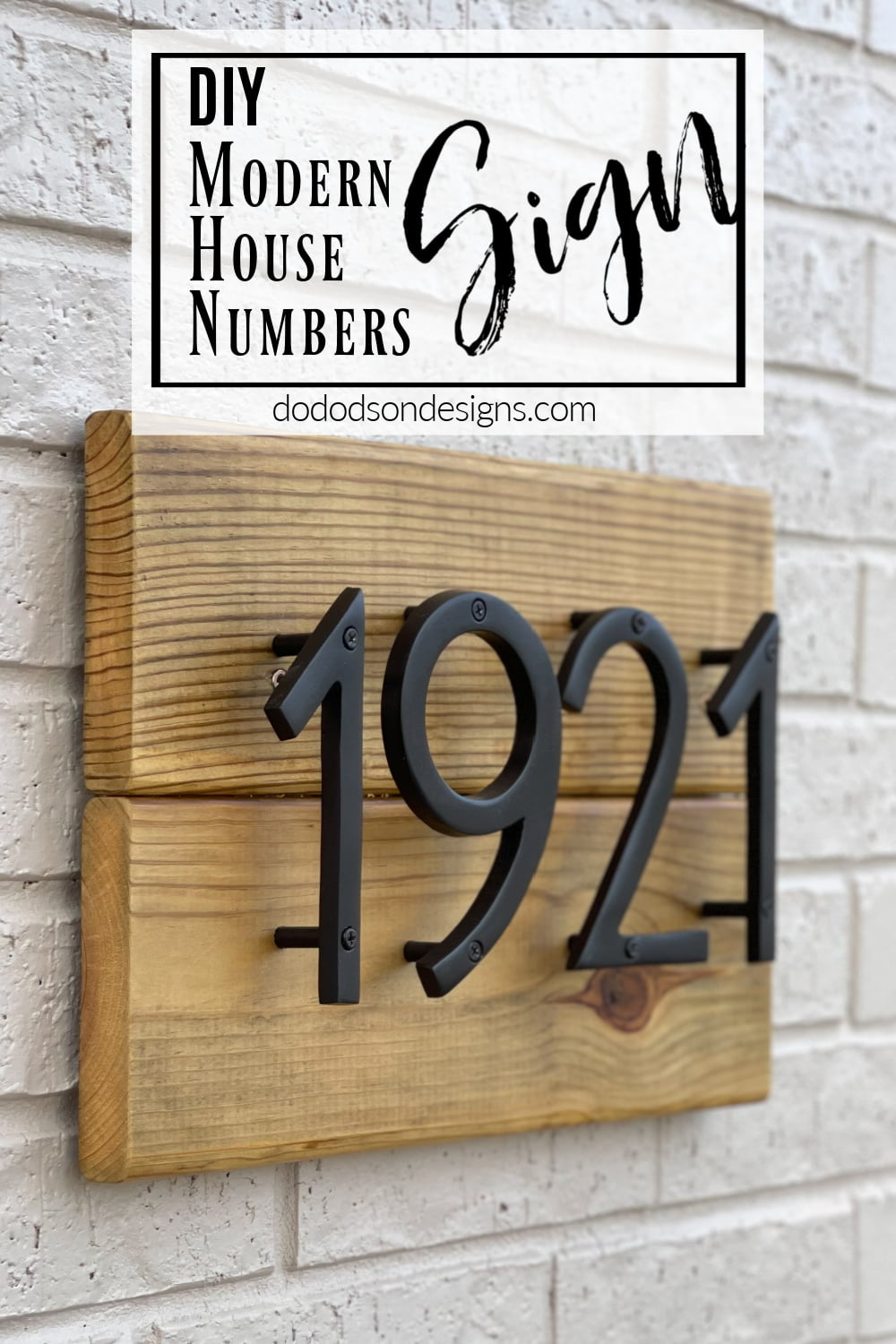 Modern House Numbers Sign - Curb Appeal Envy
