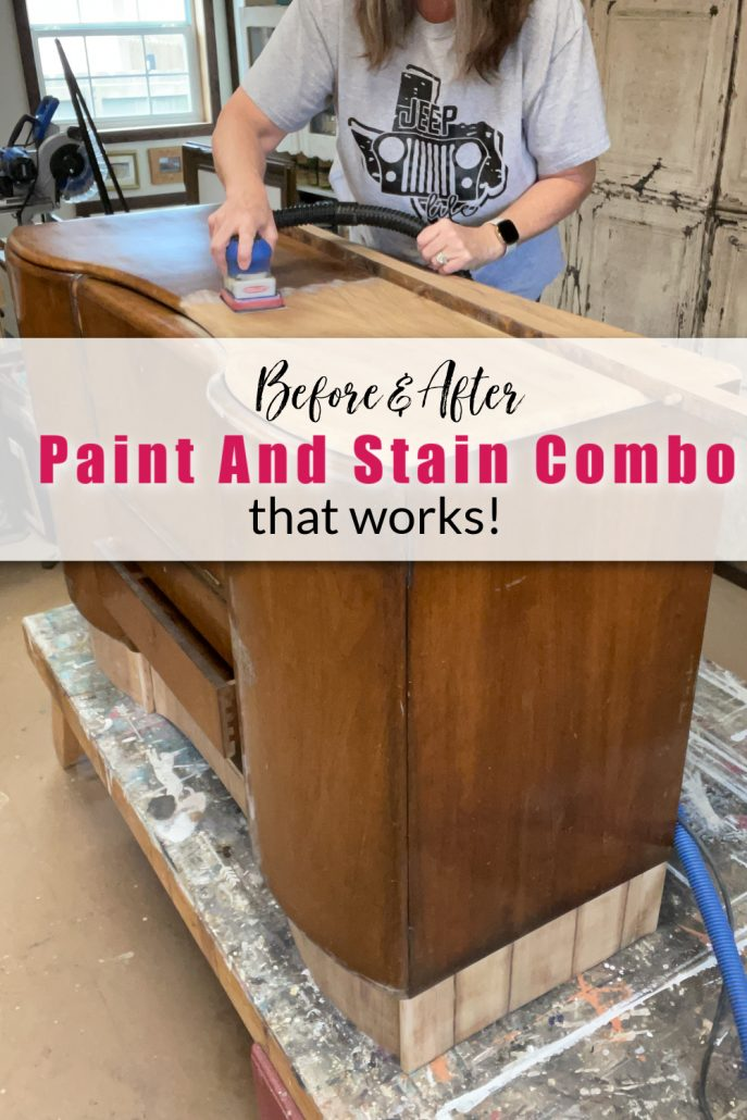 You gotta see this paint and stain combo I did on art decor bar.