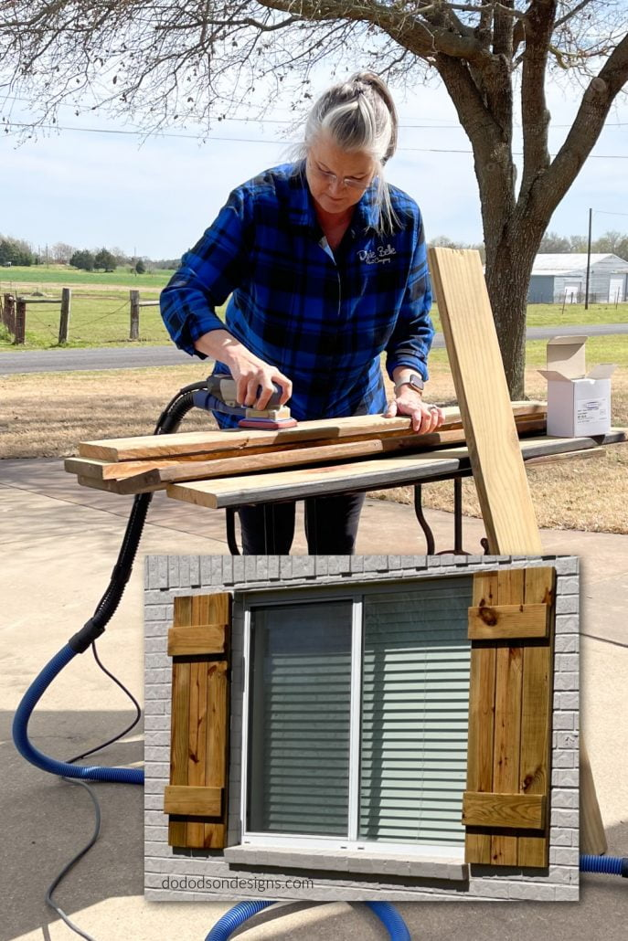 Learn how I built these DIY wood shutters for practically free and so can you.