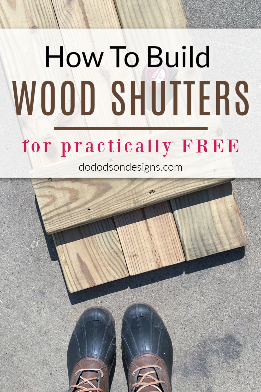 How To DIY Wood Shutters For Practically Free