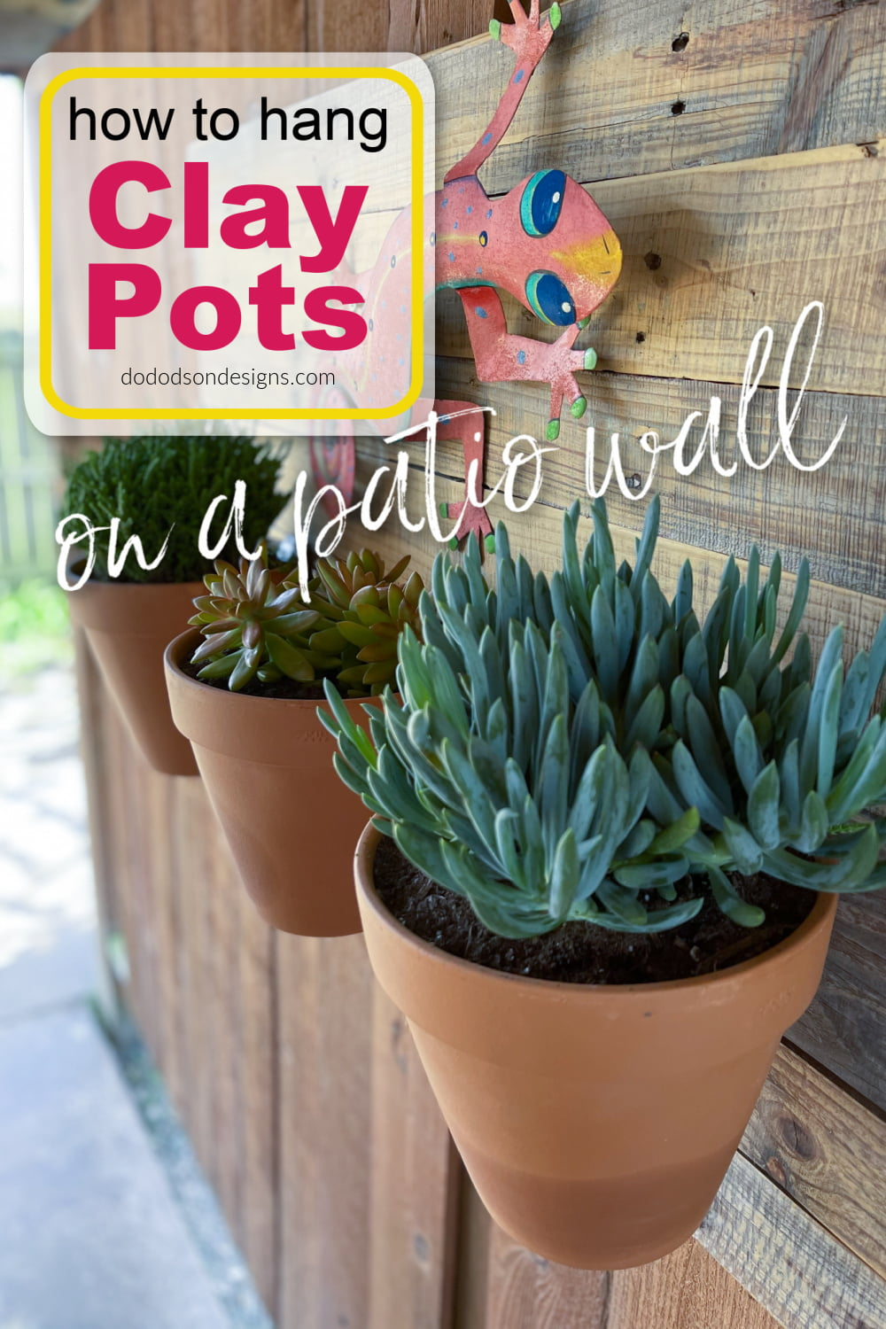 How To Hang Clay Pots On A Patio Wall