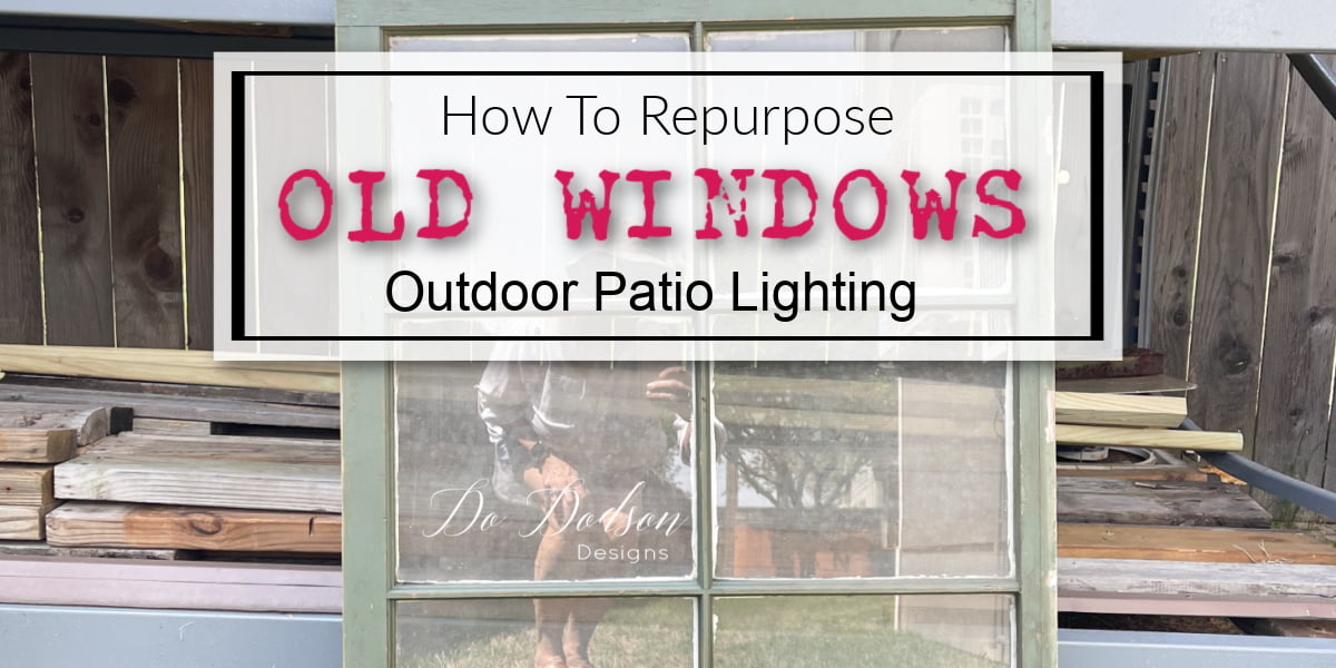 Old windows are a great way to add that vintage charm to an outdoor space, and when you repurpose them, you get patio lighting!