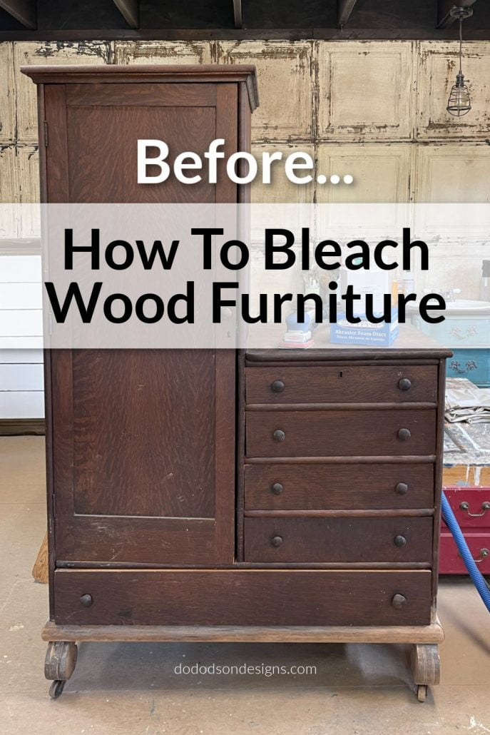 I recently read a tutorial by a blogger friend who used household bleach to bleach wood and decided to give it a go. If she did it, I knew it would be okay to try this method. Here's how it turned out.