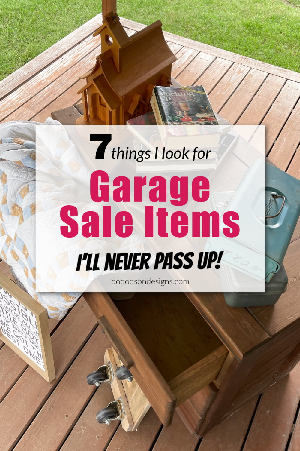 7 Garage Sale Finds That I Won\'t Pass up Ever!