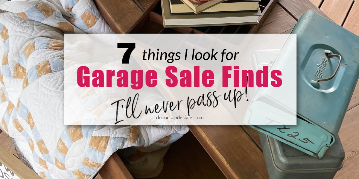 Nothing makes me happier than garage sale finds that I can decorate my home with. Budget-friendly decor. That's my style!