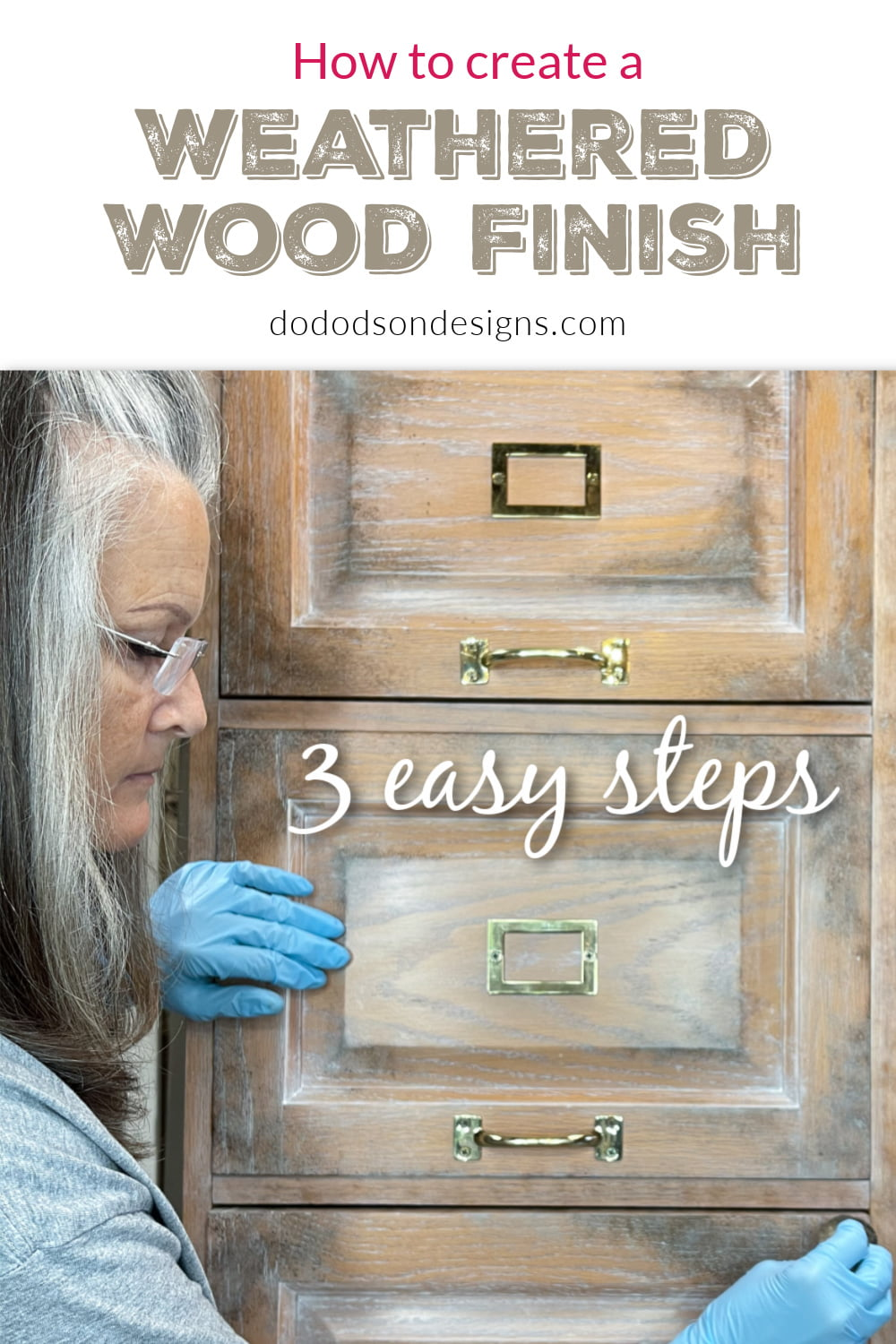 DIY Weathered Wood Gray Finish In 3 Easy Steps