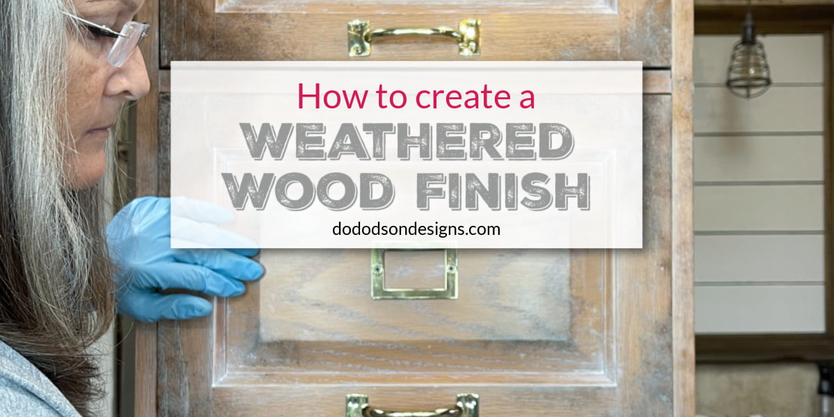 Creating a weathered wood finish is super easy using gel stain. The DIY technique will have you wanting to refinish all your wood furniture.