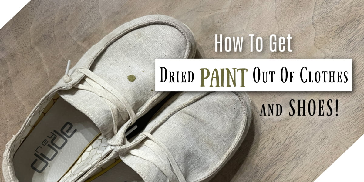 """How To Get """"Opps"""" Dried Paint Out Of Clothes"""