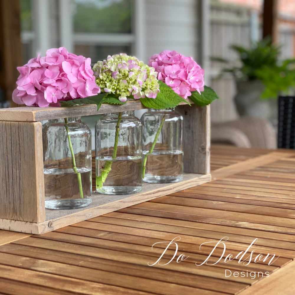 This was one of those feel-good DIY projects, and I'm so happy I get to share it with you. Learn how I made these rustic wood vase holder in 4 easy steps on the blog.