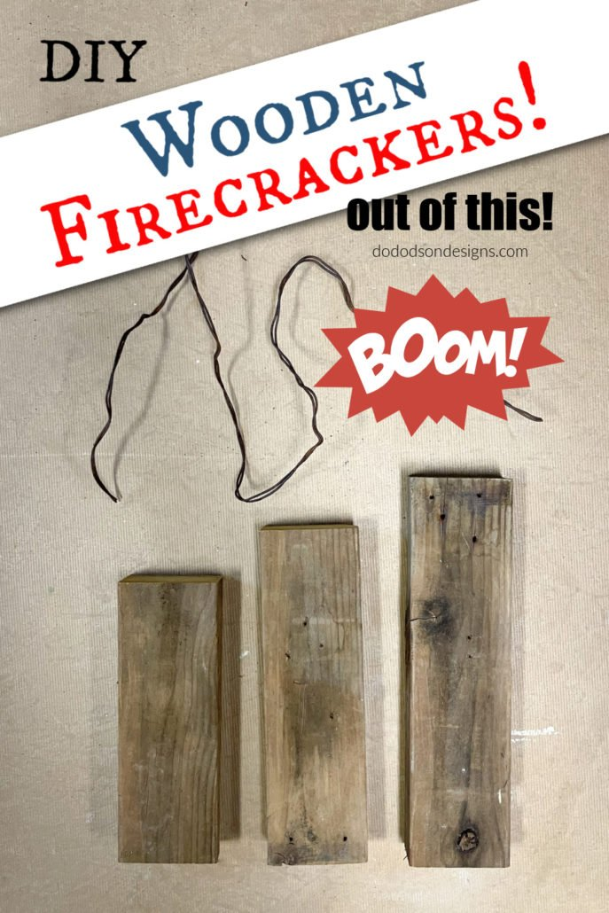 Make these easy DIY wooden firecrackers for your 4th of Jporch decorations.