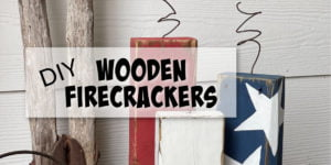 DIY Wooden Firecrackers - Quick & Easy Porch Decorating